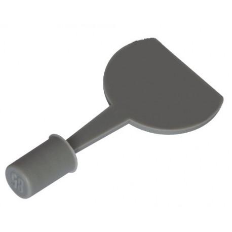 Tapones llenado de gas perfil aluminio altura 6,5 mm