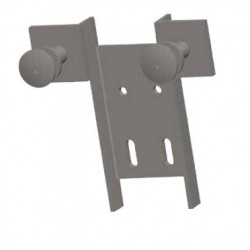 Grampón trasdosado de aluminio de 2 brazos h.