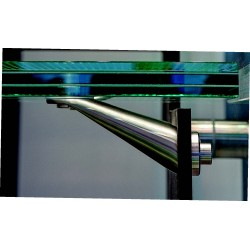Soporte escalones de vidrio