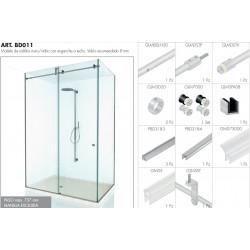 muro/vidrio. Vidrio 8 mm