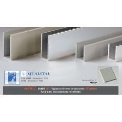Perfil aluminio mamparas