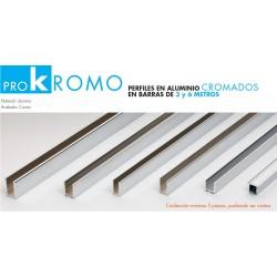 Perfiles Aluminio Cromados