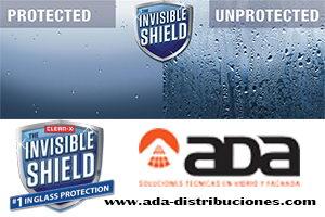 Sistema de limpieza y protección de superficies de vidrio, Invisible Shield, de Unelko