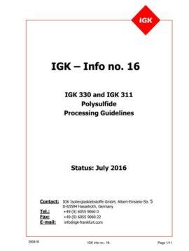 Líneas Maestras de Aplicación del PS IGK 311-330 (Inglés)