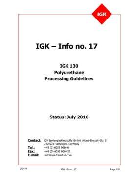 Líneas Maestras de Aplicación del PU IGK 130 (Inglés)