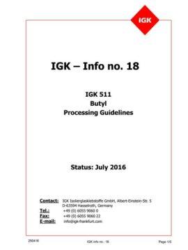 Líneas Maestras de Aplicación del PIB IGK 511 (Inglés)