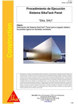 Manual Aplicación Sistema Sikatack Panel de Sika