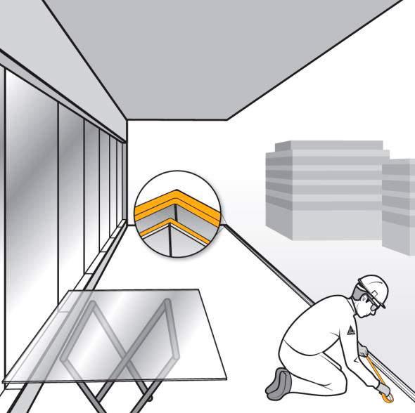 Pasos 1 y 2. Preparación previa del lugar de trabajo para la instalación de barandillas de vidrio de fijación oculta