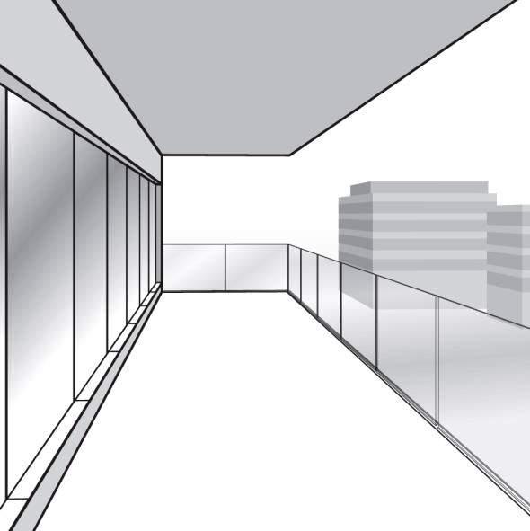 Paso 14. Instalación de los pasamanos en la barandilla de vidrio de fijación oculta
