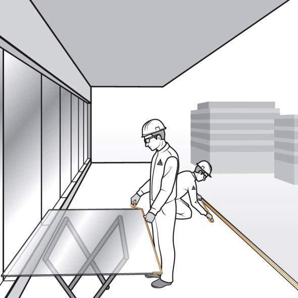 Paso 3. Protección de la capa intermedia del vidrio laminado a instalar en una barandilla de fijación oculta