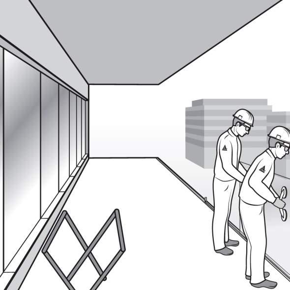 Paso 9. Instalación del vidrio de la barandilla de fijación oculta