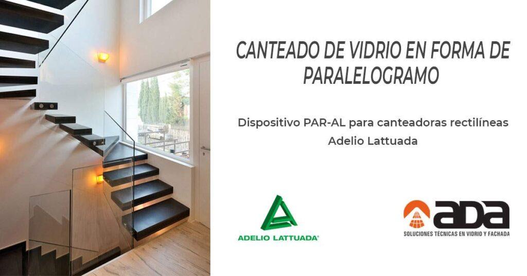 Dispositivo PAR-AL en maquina para canteado de vidrios de Adelio Lattuada. Distribuidor Oficial Ada Distribuciones Técnicas, S.L.